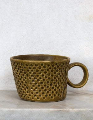 Ochre Textured Mugs