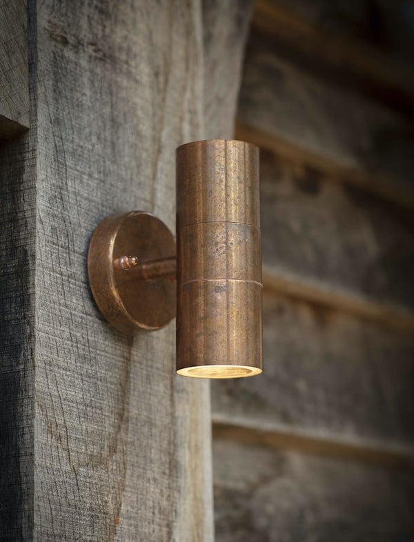 Rustic Copper Outdoor Tube Wall Light   PRE ORDER SEPTEMBER
