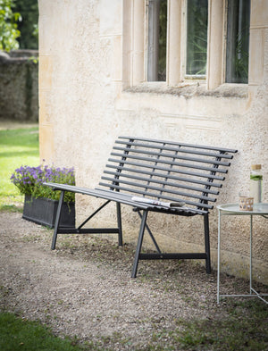 Black Steel Curve Garden Bench PRE ORDER OCTOBER