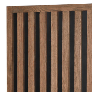 Oak Strips Storage Cabinet