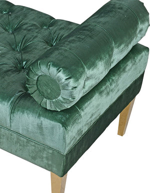 Emerald Green Velvet Chaise