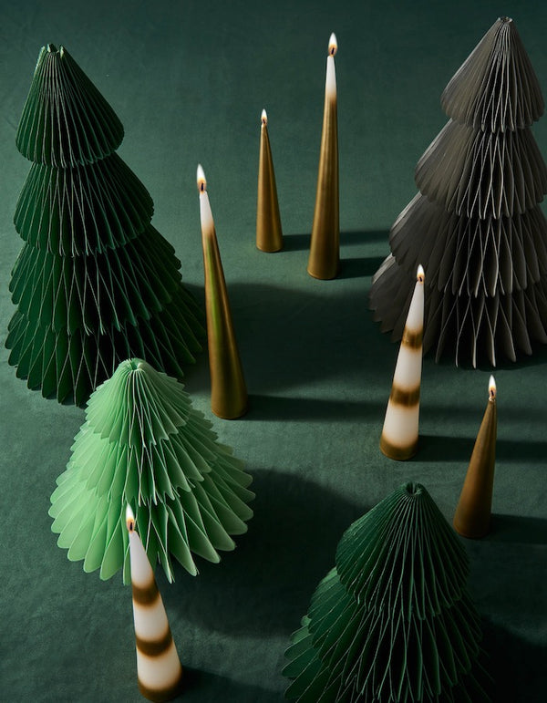 Set of Three Christmas Candles