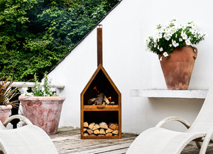 Tall Chimney Outdoor Fireplace  PRE ORDER FEBRUARY