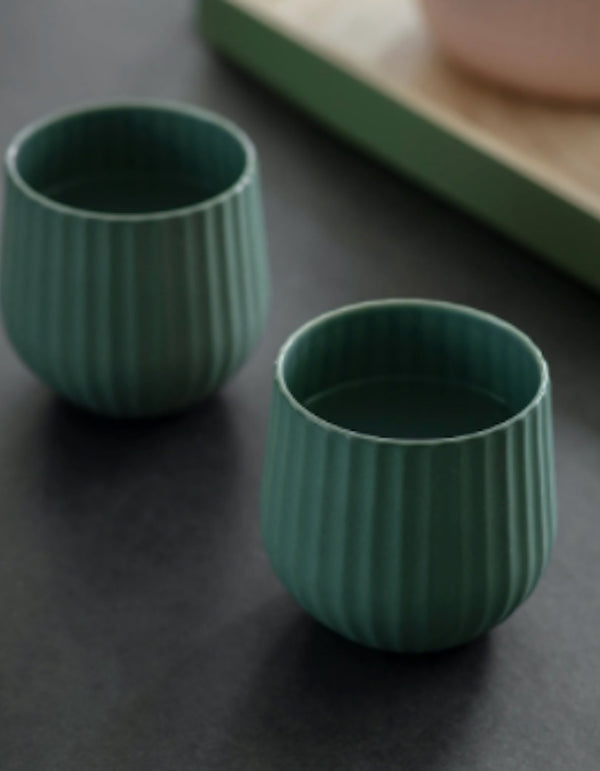 Set Of Two Emerald Tumblers