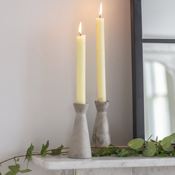 Tall Cement Candle Holders