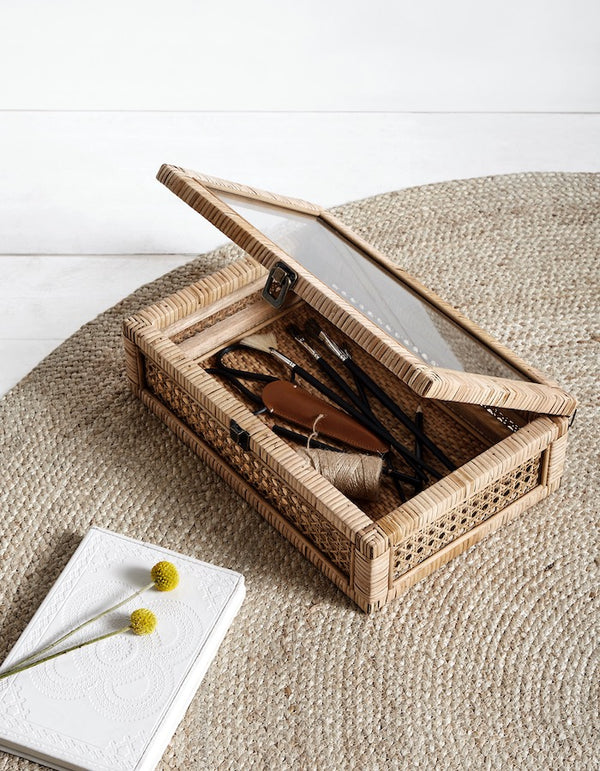Rattan Keepsake Storage Box