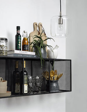 Black Wire Box Shelf Unit