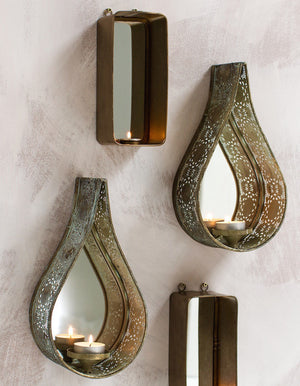 Wall Sconces In Copper And Filigree