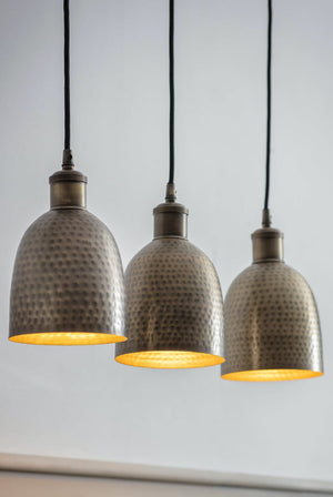 Trio Of Brass Pendant Lights