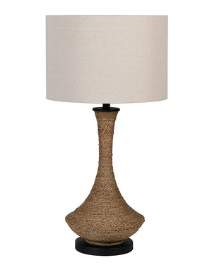 Natural Robe Tapered Lamp with Shade
