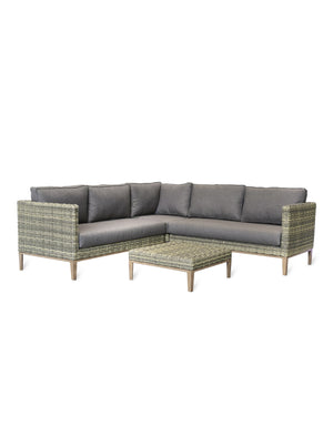 All - Weather Light Rattan Corner Sofa Set