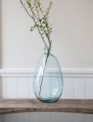 Large Hand Blown Bottle Vases - Two sizes