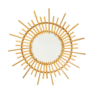 Mini Starburst Rattan Mirror