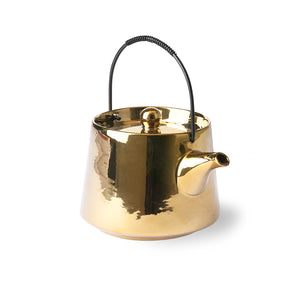 Glazed Gold Tea Pot