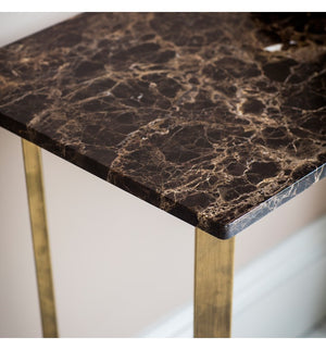 Black Marble And Brass Console Table. PRE ORDER FEBRUARY