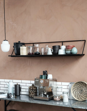 Black Nordic Slim Shelf
