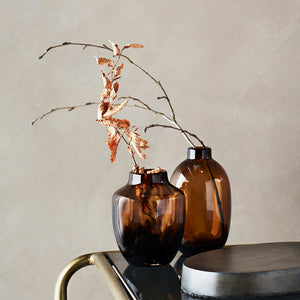 brown and amber vases the forest and co
