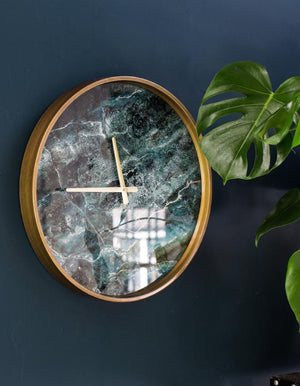 Gold And Marble Wall Clock