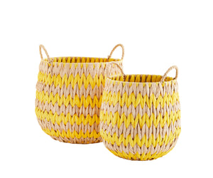 Rustic Colour Pop Sea Grass Baskets