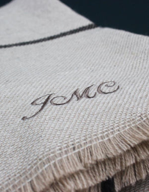 Personalised Slate To Stone Blanket Scarf