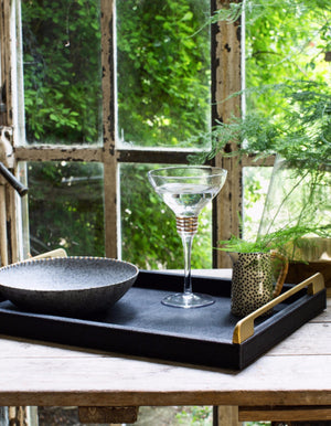 Luxury Black And Gold Tray