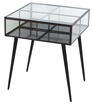 Glass Boxed Side Table
