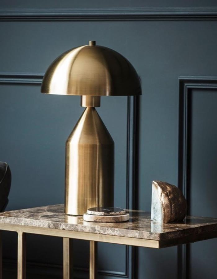 Gold Dome Lamp ...