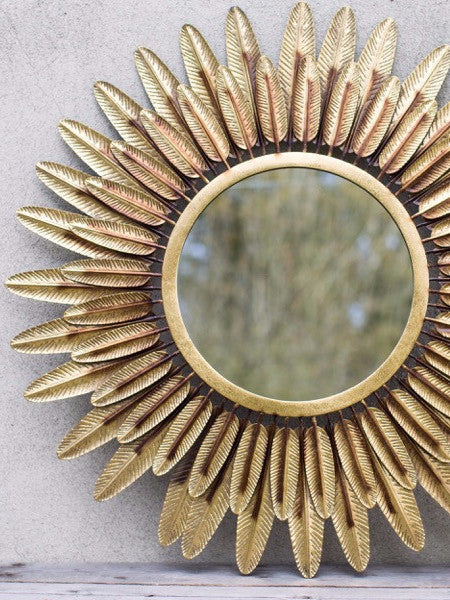 Golden Feather Mirror