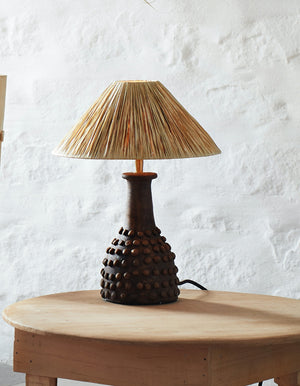 Brown Bobbled Raffia Table Lamp   PRE ORDER SEPTEMBER