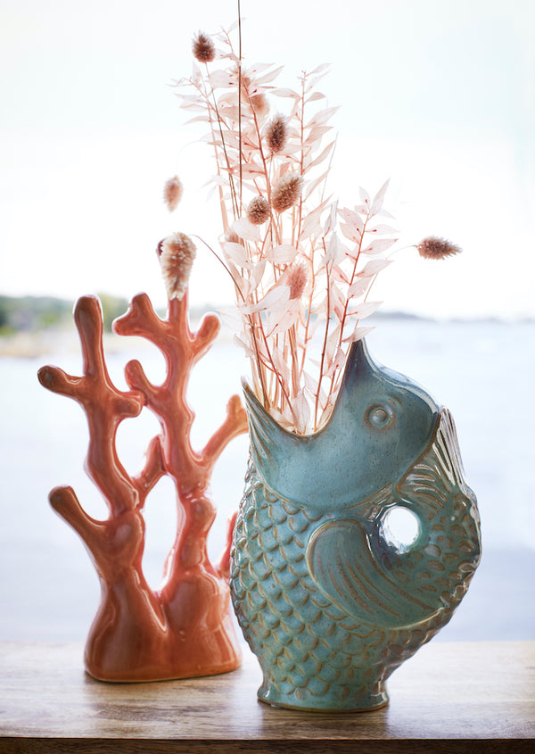 Fish Stoneware Vase PRE ORDER OCTOBER