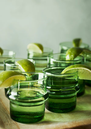 Recycled Green Water Glasses