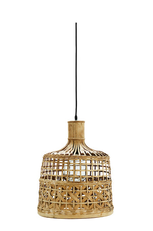 Bamboo Basket Weave Ceiling Light