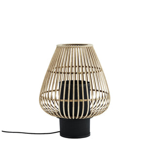 Bamboo Lattice Hurricane Table Lantern