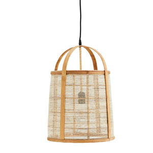 Bamboo and Linen Cage Ceiling Light. PRE ORDER JANUARY