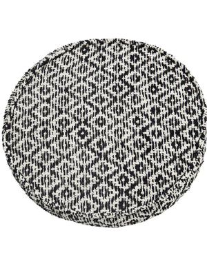 Black and White Geo Weave Seat Pad