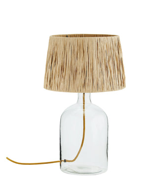 Glass And Raffia Table Lamp PRE ORDER FEBRUARY