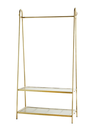Brass Clothes Rail With A Shelf PRE ORDER APRIL