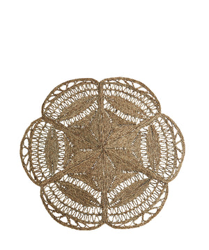 Scalloped Flower Natural Jute Rug. PRE ODER FEBRUARY