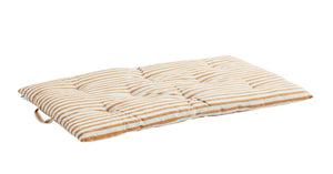 Candy Stripe Chair Mattress in Off White and Honey PRE ORDER MAY