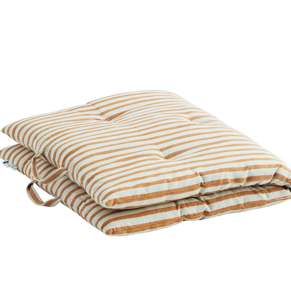 Candy Stripe Chair Mattress in Off White and Honey PRE ORDER FEBRUARY