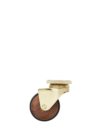 Brass and wooden castors