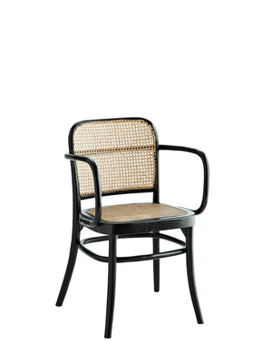 French Black And Rattan Bistro Chair.    PRE ORDER AUGUST