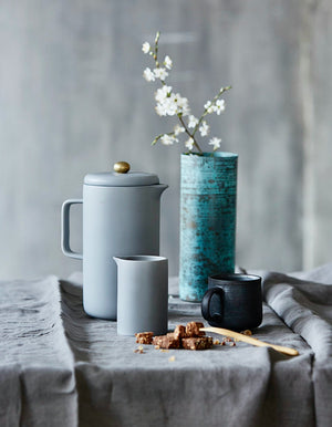 Grey Porcelain Coffee Pot