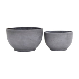 Set of Two Low Slung Planters