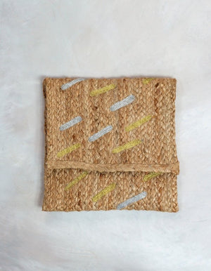 Jute Metallic Clutch