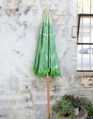 Soft Floral Pistachio Beach Umbrella. PRE ORDER JUNE.