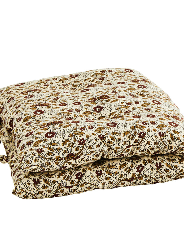 Tapernade and Brick Floral Chair Mattress