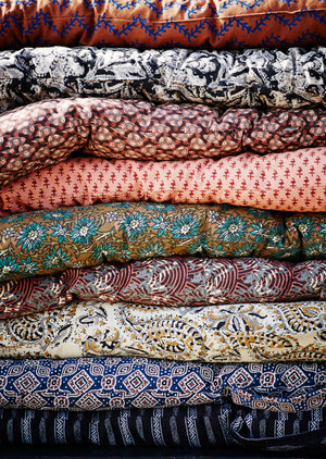 Danish Block Print Cotton Mattress available in a Choice of Prints