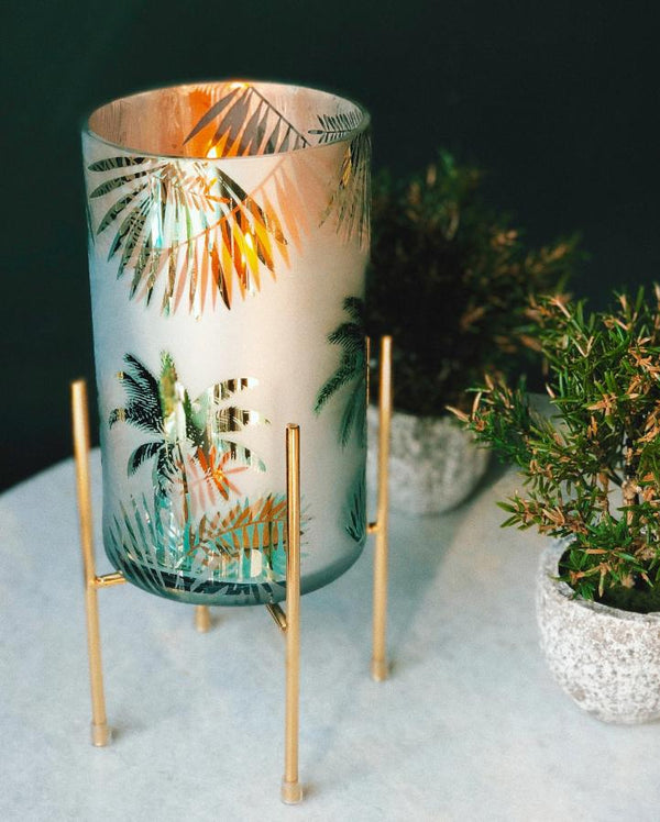 Palm Tree Hurricane Lantern