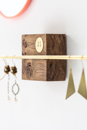 Personalised Oak Block Jewellery Holder - The Forest & Co.